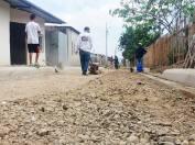Actualmente se trabaja en la reconformación de varias calles.