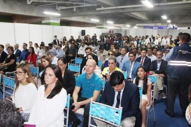 El público presente en el acto inaugural de la Expopesca del Pacífico Sur.