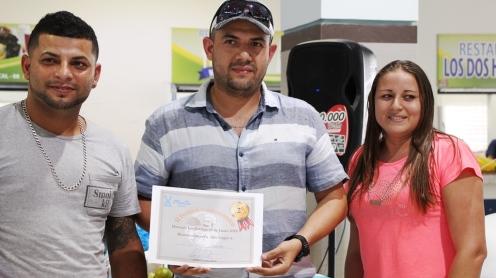 El chef ganador del segundo lugar.