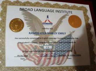 Certificado.