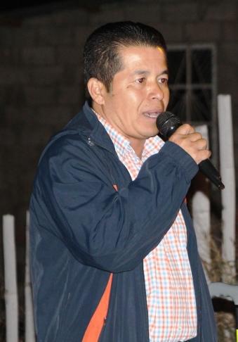 Edison Barcia, presidente de la Federación de Barrios de la Parroquia Urbana Eloy Alfaro de Manta.