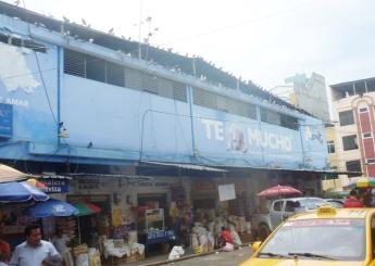 El antiguo y ya desaperecido Mercado Municipal de Tarqui. Foto: REVISTA DE MANABÍ.