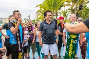 Ceremonia de investidura a los padres símbolo del bailoterapia Playa El Murciélago.