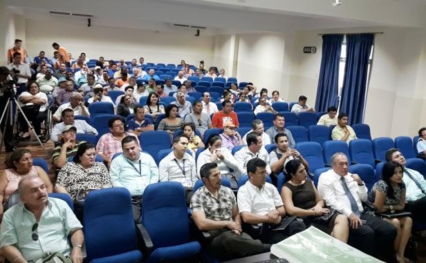 Público ante el cual se presentó el Plan de Movilidad Sustentable del Gobierno municipal de Chone. Manabí, Ecuador.