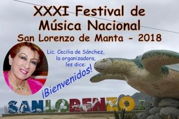 Pieza de arte publicitario para llevar público al festival de música ecuatoriana.
