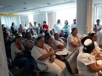 Auditorio de la capacitación en Santo Domingo de los Tsáchilas.