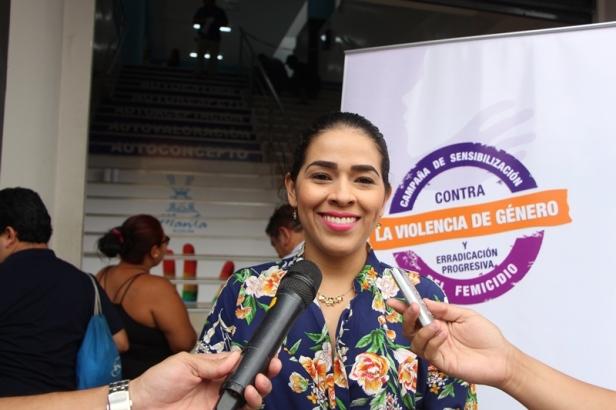 Lady García, presidenta de la Comisión Municipal Permanente de Igualdad y Género de Manta. Manabí, Ecuador.