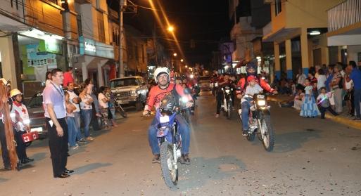 El Club de Motociclistas también dio su aporte al pregón.