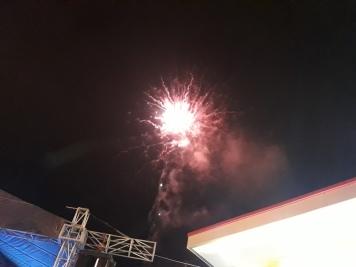 En el clímax de la celebración.