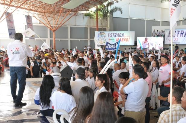 Aspecto de la primera convención provincial del Movimiento Político Sí Podemos, en la ciudad de Portoviejo. Manabí, Ecuador.