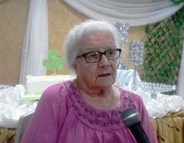 Margarita MC. Carthy, misionera cristiana irlandesa homenajeada en Chone. Manabí, Ecuador.