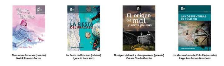 Libros de letras vivas de Manabí, Tinta Ácida Ediciones, Manta. Ecuador.
