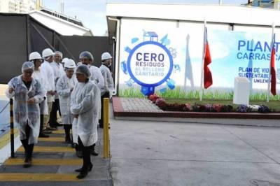 Planta industrial de Unilever que cuida no arrojar residuos al relleno sanitario de la ciudad. Chile. (Foto: Nueva Mujer)
