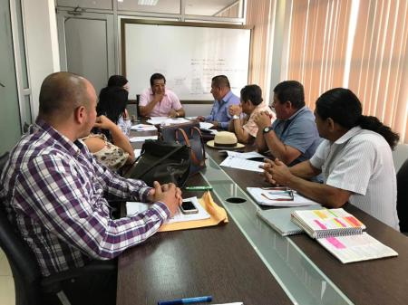 El Concejo municipal de Montecristi sesiona para aprobar en primera la ordenanza sobre remisión de intereses y multas a los deudores del Municipio. Manabí, Ecuador.