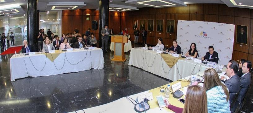 Vocales del Consejo de la Judicatura interino informan a la Comisión de Justicia de la Asamblea Nacional del Ecuador y observan algunos proyectos para reformas de leyes vinculantes para la Función Judicial.