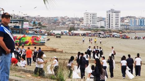 La meta final del Manta Plogging 3 estuvo en la Playa El Murciélago de Manta. Manabí, Ecuador.