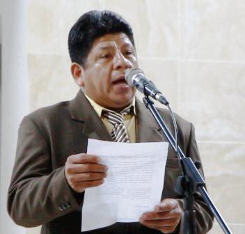 Franklin Delgado, presidente del Comité pro Mejoras del Barrio 4 de Noviembre de Manta.
