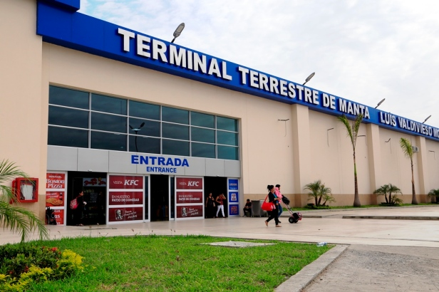 Terminal terrestre de Manta. Manabí, Ecuador.