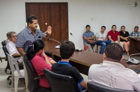 Aspecto de la asamblea constitutiva de la Asociación de Emprendedores Turísticos de Chone. Manabí, Ecuador.