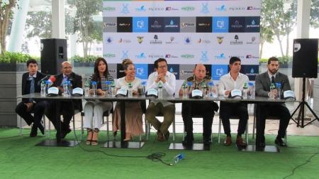 Autoridades de Manta informan sobre el programa de fiestas por el aniversario cantonal en noviembre de 2018. Manabí, Ecuador.