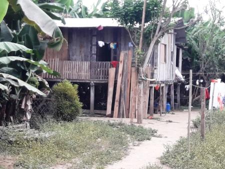 Casa en El Mate-San Andrés, Chone, donde mataron a Vanessa Vélez Vera. Manabí, Ecuador.