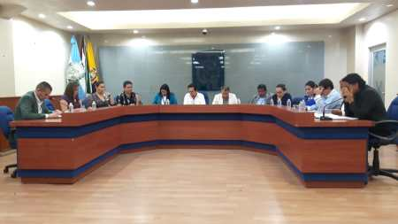 Sesión plenaria del Concejo municipal de Manta. Manabí, Ecuador.