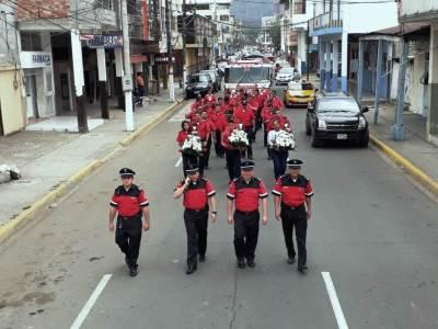 Romería de bomberos de Chone. Manabí, Ecuador.