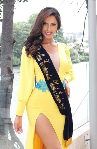 Gabriela Carrillo, Miss Continentes Unidos Ecuador 2018.