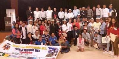 Participantes en el III Encuentro Nacional del Pueblo Cholo del Ecuador. Manabí, Ecuador.