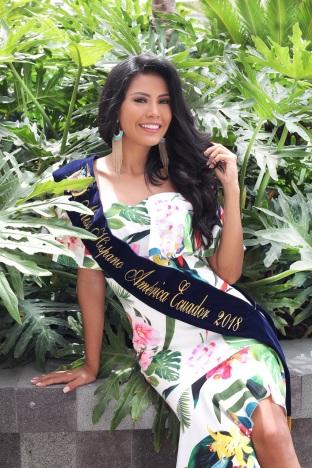 Lisette Naranjo, Miss Hispano América Ecuador 2018.