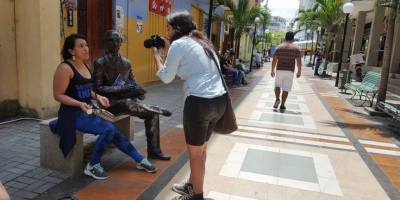 Pasaje Hermanos Egas, en la ciudad de Manta. Manabí, Ecuador.