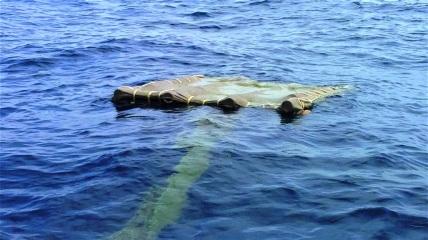 Plantado biodegradable a la espera de atunes.