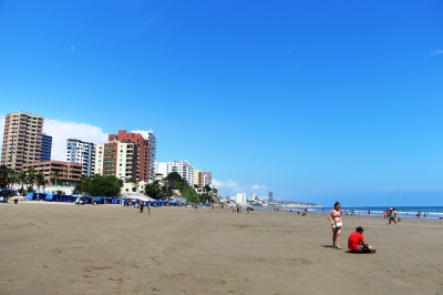 Playa de El Murciélago, en la ciudad de Manta. Manabí, Ecuador.
