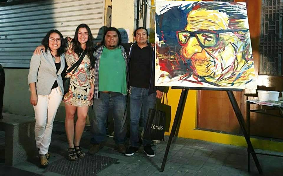 Gestores culturales de Manta, organizadores del Encuentro Literario Papagayo K. Manabí, Ecuador.