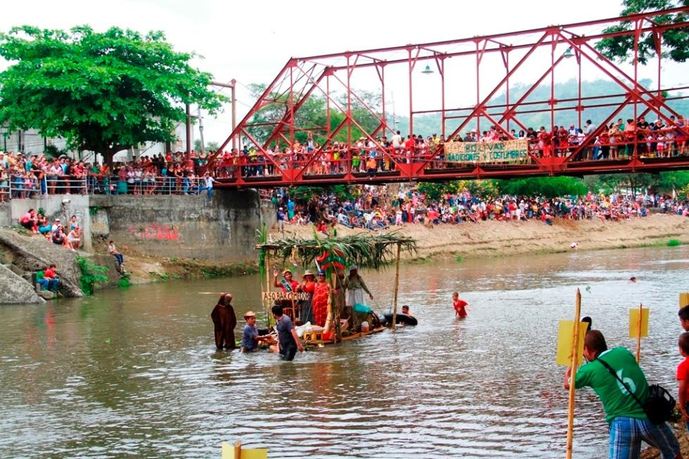 Puerto de balsas en la ciudad de Calceta, Cantón Bolívar. Manabí, Ecuador.