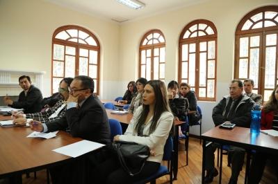 Participantes en una clase de la Escuela de la Función Judicial. Quito, Ecuador.