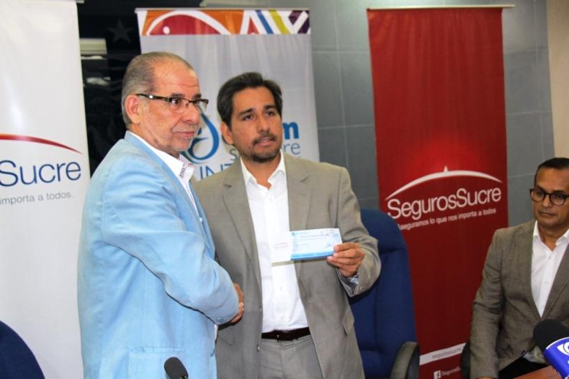 Seguros Sucre pagó indemnización post terremoto a la empresa de agua potable de Manta. Manabí, Ecuador.