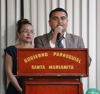 Leonardo Alonzo, presidente del Gobierno parroquial de Santa Marianita.