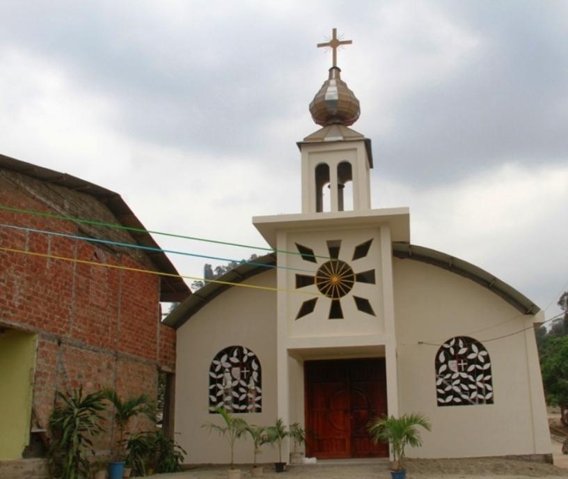 Templo de Santa Marianita de Jesús, Parroquia Membrillo del Cantón Bolívar. Manabí, Ecuador.