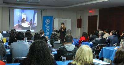 Taller de conocimientos organizado por UNICEF y el Consejo de la Judicatura. Quito, Ecuador.