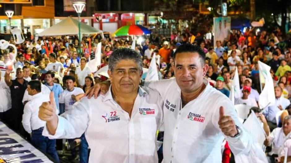 Jaime Estrada B. y Fausto Avilés, Olmedo