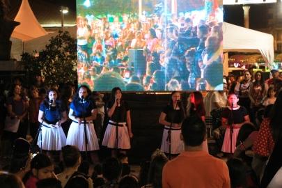 El coro de la Unidad Educativa Stella Maris.