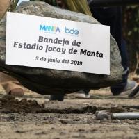 Pusieron la primera piedra para la nueva tribuna del Estadio Jocay