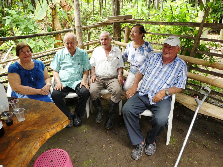 Flor, Pablo, Ramón, Flérida y José Molina Intriago.