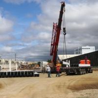 Ya se construye la tribuna oriental del Estadio Jocay de Manta